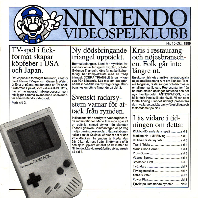 Mitt liv i spel – del V: Nintendoklubben