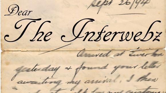 Öppet brev till internet