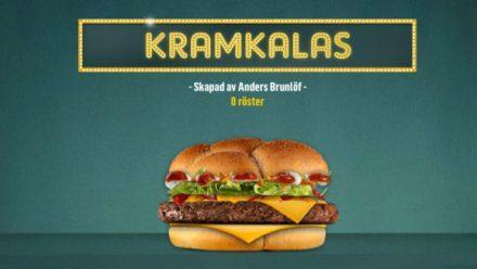 Rösta på Kramkalas-burgaren!
