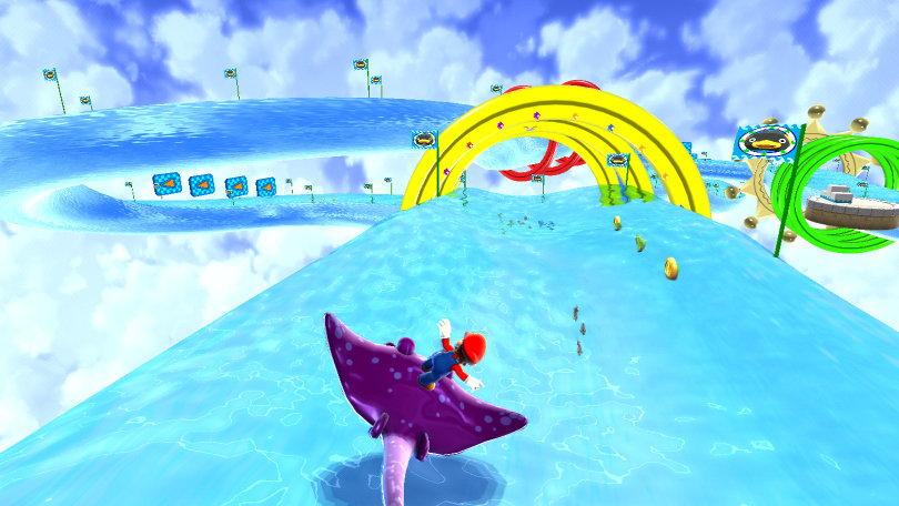 super-mario-galaxy-water-stingray-surfing