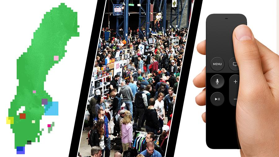 Fler svenska spelutvecklare, Retrospelsmässans paus och Apple TV-spel