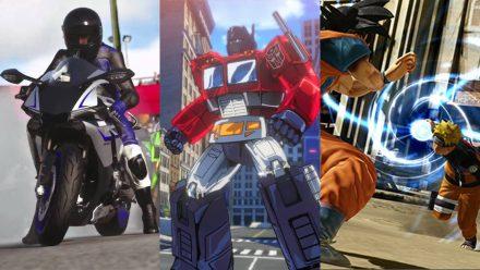Tre snabba: Driveclub Bikes, Transformers: Devastation & J-Stars Victory VS +