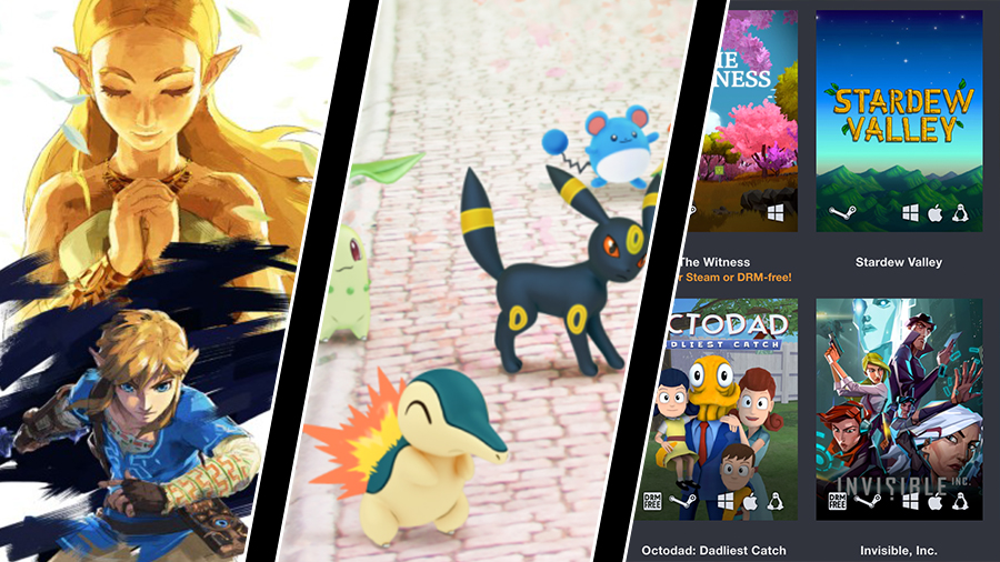 Zeldas season pass, nya pókemon i Go och Humble Freedom Bundle