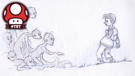 Annas tv-spelspitch: konceptskisser