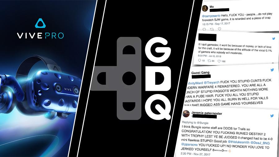 Vive Pro, Games Done Quick-rekord – och trakasserier mot utvecklare