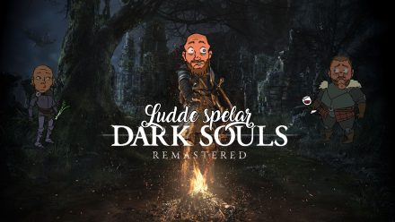Ludde spelar Dark Souls på Switch