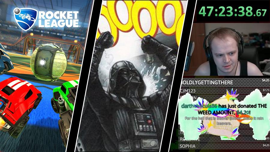 Rocket League-crossplay, EA skrotar Star Wars – och lång Donkey Kong 64-stream