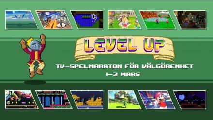 Level Up välgörenhetsstream 1-3 mars