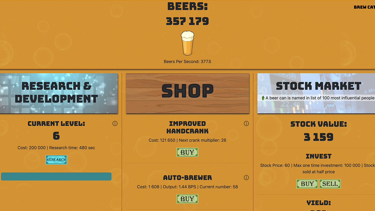 Beer Clicker version 1.5