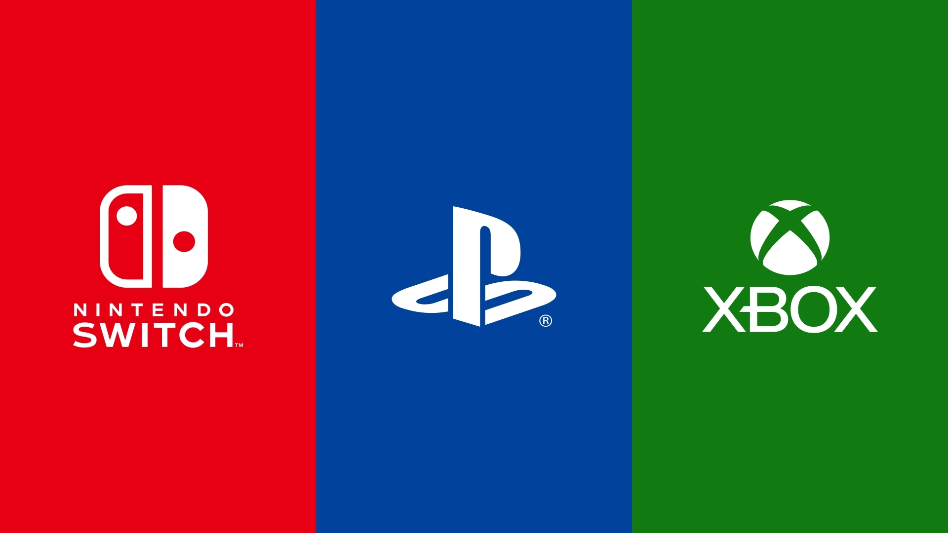 Nintendo, Playstation, Xbox