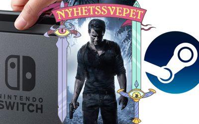 """Nyhetssvepet vecka 22: Switch """"Pro"""" kan visas snart, Uncharted 4 till PC, Valve kan släppa Switch-liknande maskin"""