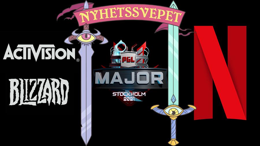 Nyhetssvepet vecka 30: Activision Blizzard stäms av staten, inreseregler för e-sportare ändras, Netflix spelsatsning (igen)